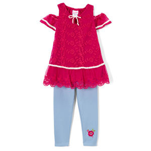 NWT Nannette Lace Tunic Leggings Girls Outfit Set